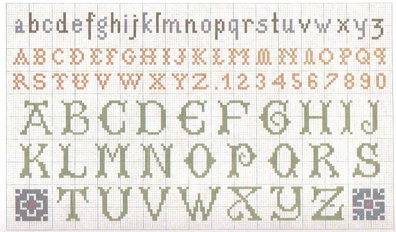 Knitting Patterns For Letters Of The Alphabet : 1000+ images about Alphabets on Pinterest