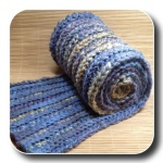 Reversible crochet scarf