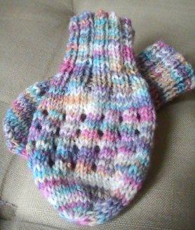 Sock yarn mittens