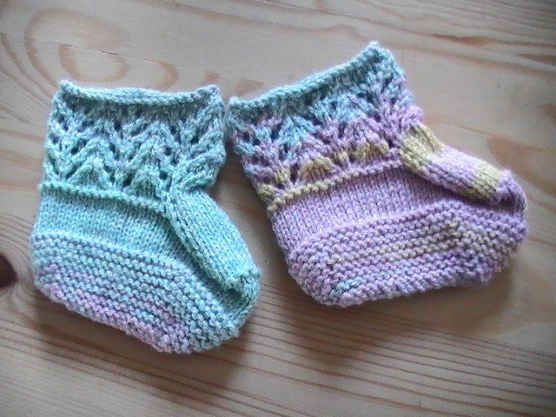 Lace boottees for Lily